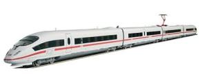 Влак - стрела с четири вагона - ICE 3 - ЖП комплект с релси -