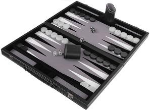 Табла - Луксозен комплект за игра в кожена кутия -