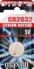 Бутонна батерия CR2032 - Литиева 3V - 1 брой -
