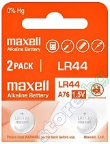 Бутонна батерия LR44 / SR44 - Алкална 1.5 V - 2 броя -