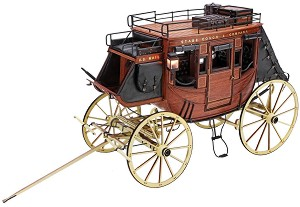"Дилижанс - ""Stagecoach"" 1848 - Сглобяем модел от дърво -"