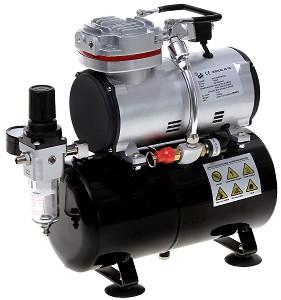 Мини компресор с въздушен резервоар - Инструмент за оцветяване на модели и макети -