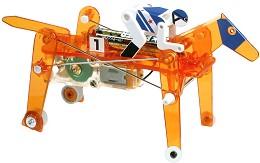 Механичен съзтезателен кон с ездач - Сглобяем модел с мотор -
