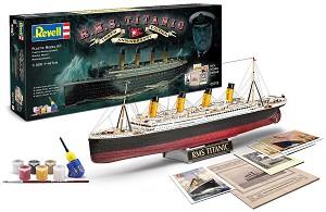 Лайнер - R.M.S. Titanic - Юбилеен комплект - Сглобяем модел комплект с лепило и бои -