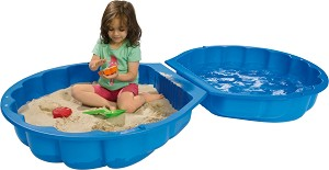 Детски пясъчник с капак - Мида -