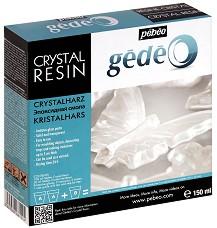 """Прозрачна двукомпонентна епоксидна смола - Опаковка от 150 ml от серия """"Gedeo"""" -"""