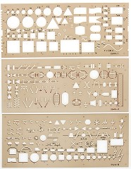 Комплект 3 шаблона - Електрическа инсталация -