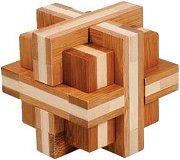 Doublecross - 3D пъзел от бамбук -