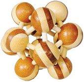 Атом - 3D пъзел от бамбук -