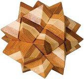 Звезда - 3D пъзел от бамбук -