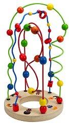 Спирала - Лабиринт с 3 улея - Дървена играчка - играчка