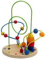 Спирала с цифри - Дървена играчка - играчка