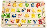 Английската азбука - Детски дървен пъзел - пъзел