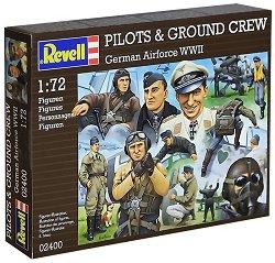 Войници и пилоти от германската войска - Комплект от 30 сглобяеми фигури - макет