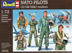 Пилоти от армията на NATO - Комплект от 28 сглобяеми фигури - макет