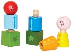 Завий и завърти - Дървена играчка -
