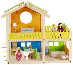 Дървена къща за кукли -