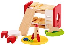 Детска стая - Дървени мебели за кукленска къща - играчка