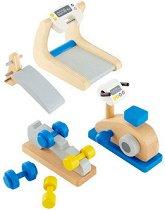 Фитнес - Дървени мебели за кукленска къща -