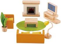 Мебели за хол - Дървено обзавеждане за кукли -