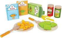 Паста - Комплект дървени играчки - играчка