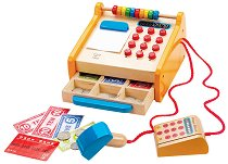 Касов апарат - Дървена играчка - творчески комплект