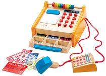 Касов апарат - Дървена играчка - образователен комплект