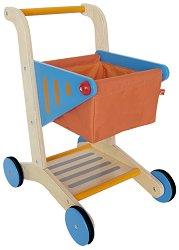 Количка за пазаруване - Дървена играчка -