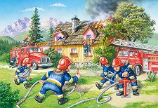 Пожарникари - Пъзел с едри елементи - пъзел