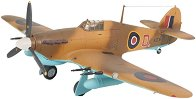 Изтребител - Hawker Hurricane Mk.II - Сглобяем авиомодел - комплект с лепило и бои -