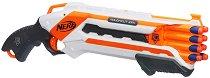 """Дeтски двуцевен пистолет - Rough Cut - В комплект с 8 меки стрелички от серията """"Nerf"""" -"""