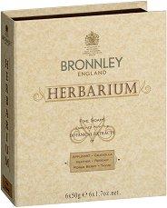 Bronnley Herbarium Fine Soaps - Подаръчен комплект от 6 броя луксозни билкови сапуна - продукт