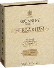 Bronnley Herbarium Fine Soaps - Подаръчен комплект от 6 броя луксозни билкови сапуна - сапун