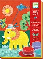 Оцветявай с цветен пясък - In the open air - Творчески комплект за рисуване - играчка