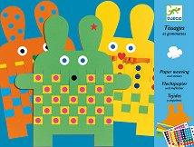 Създай сам с ленти и стикери - Зайчета - Творчески комплект - творчески комплект