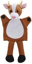 Кукла за куклен театър - Кафява крава - играчка