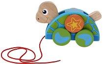 Костенурче - Дървена играчка за дърпане - играчка