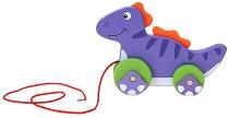 Динозавърче - Дървена играчка за дърпане - играчка