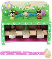 Удари и подскочи - Градина - Дървена играчка - играчка