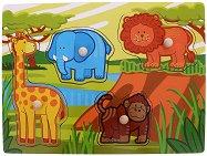 Джунгла - Детски дървен пъзел - пъзел