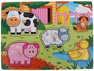 Ферма - Детски дървен пъзел - пъзел