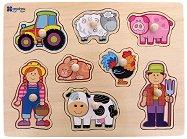 Във фермата - Детски дървен пъзел - пъзел