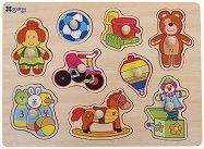 Играчките - Детски дървен пъзел -