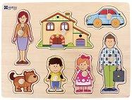 Семейство - Детски дървен пъзел - пъзел