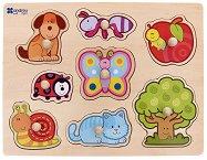 Градина - Детски дървен пъзел - пъзел