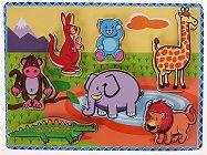 Сафари - Детски дървен пъзел -