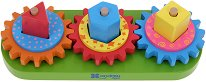 Нанижи и завърти зъбните колела - Образователна дървена играчка -