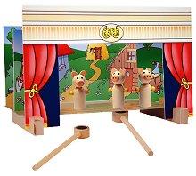 Куклен театър с магнити - Дървена играчка - играчка