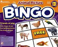 Картинно бинго - Животните - Образователна игра на английски език -