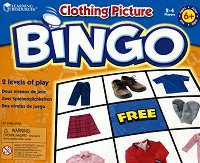 Картинно бинго - Дрехите - Образователна игра на английски език -